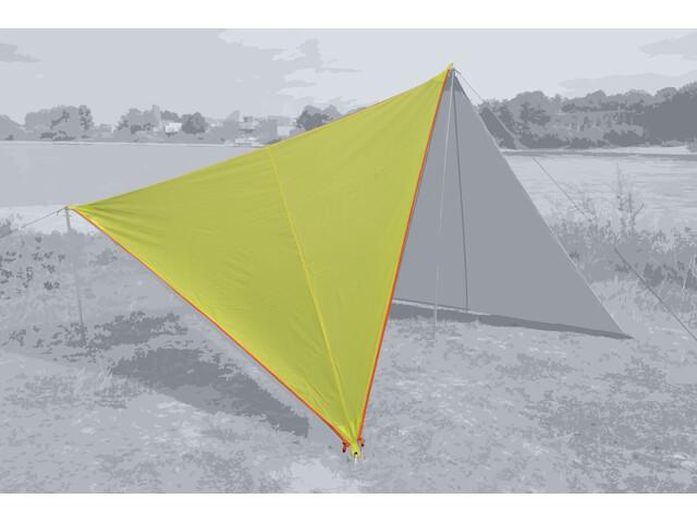 Bent Canvas Plain Bâche de toit Simple, lime punch/zipper orange